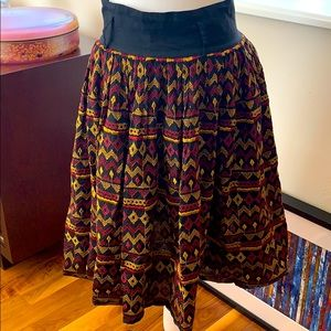Italian embroidered skirt